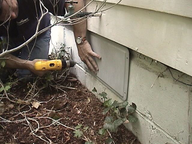Awesome Crawl Space Supplies #8: ... A Crawl Space Vent Being Sealed By Our Vent Covers ...