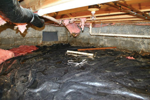 Crawl Space Repair Before in Cincinnati