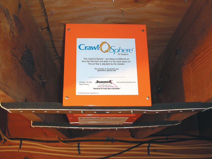 Crawl Space Vent Fans : Crawl space fan system to ventilate a in