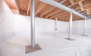 Crawl space structural support jacks installed in Trenton