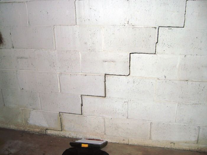 a diagonal stair step crack along the foundation wall of a franklin home - Fixing Foundation Cracks