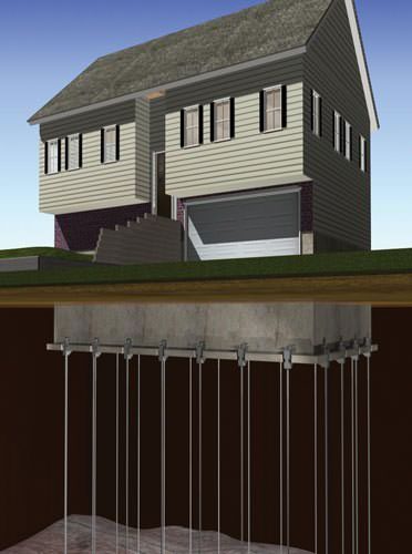 Greater cincinnati sinking settling foundation repair for Steel piers for house