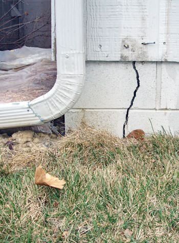 foundation wall cracks due to street creep in Madison