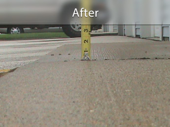 Repairing driveway with concrete leveling in OH and IN
