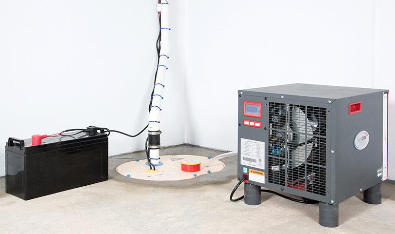 sump pump installed in troy by the basement doctor of cincinnati
