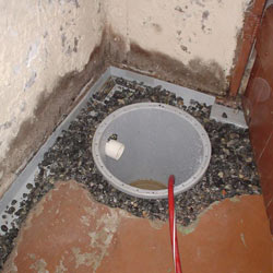 Installing a sump in a sump pump liner in a Hamilton home