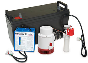 a battery backup sump pump system in Mason