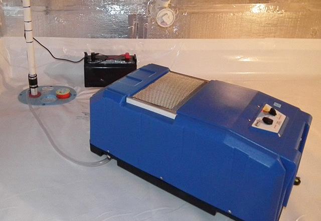 crawl space sump pump installation in cincinnati dayton hamilton oh