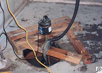 A Miamisburg sump pump system that failed and lead to a basement flood.