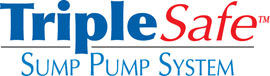 Sump pump system logo for our TripleSafe™, available in areas like Amelia