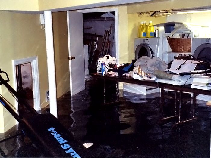 A Laundry Room Flood In Miamisburg, With Several Feet Of Water Flooded In.