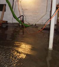 Several feet of floodwaters in a Tipp City basement
