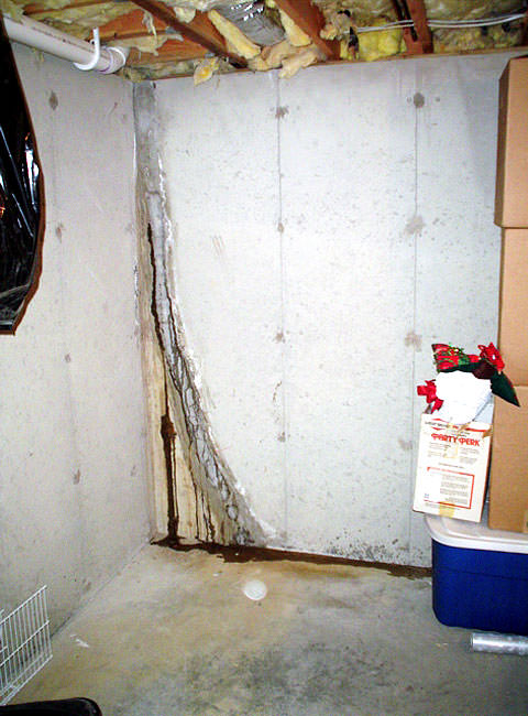 ... Leaky Crack Repair: Leaking Wall Crack Plugged With Hydraulic Cement ·  Ugly Floor ...