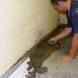 perimeter drain system install in Vandalia