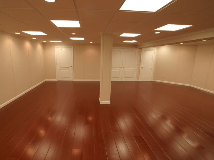 Rosewood faux wood basement flooring for finished basements in Cincinnati  ... - Wood Laminate Basement Flooring In Cincinnati, Dayton, Hamilton