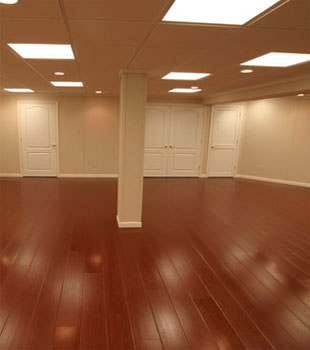 Rosewood faux wood basement flooring for finished basements in Cincinnati