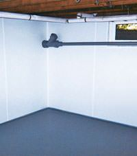 Plastic basement wall panels installed in a Xenia, Ohio and Indiana home