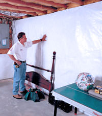 Plastic 20-mil vapor barrier for dirt basements, Xenia, Ohio and Indiana installation
