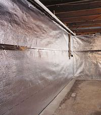 Radiant heat barrier and vapor barrier for finished basement walls in Xenia, Ohio and Indiana